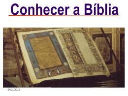 Conhecer a Bíblia -1