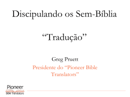 Pioneer Bible Translators PowerPoint