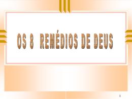 8 Remédios de Deus