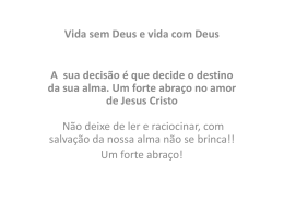 Vida com e sem Deus