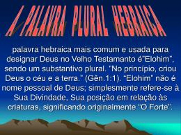 pronomes pessoais plurais - Igreja do D