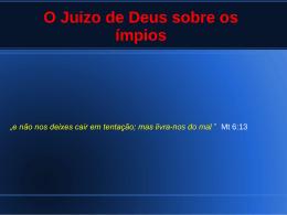 O Juizo de Deus sobre os ímpios