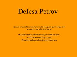 Defesa Petrov - GEOCITIES.ws