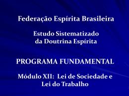Slide 1 - ESDE - Federação Espírita Brasileira