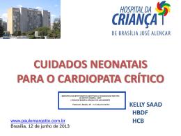 Cuidados neonatais para o cardiopata crítico