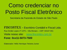 Acesso e Credenciamento para o Nota Fiscal Paulista