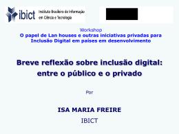 Lan houses e inclusão digital