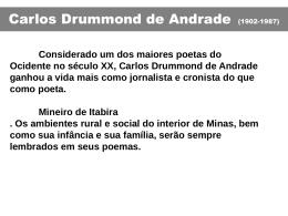 Temas da poesia de Drummond
