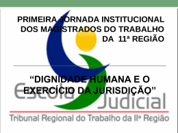 """A """"Hernenêutica Responsável"""" - Escola Judicial do TRT da 11ª"""