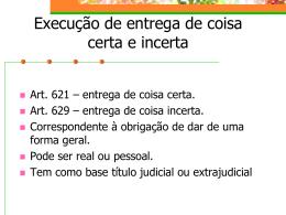 12- Execução de entrega de coisa certa e incerta