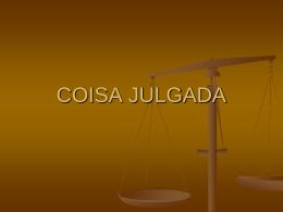 COISA JULGADA - Professor Moreno