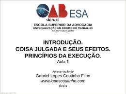 coisa julgada e seus efeitos - Gabriel Lopes Coutinho Filho