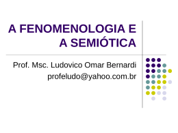 Apostila de semiótica – II