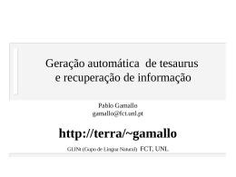 Geração automática de tesaurus e recuperação da informação