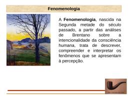 Aula 01 - Fenomenologia