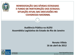 ESTUDOS SOBRE O FPE - Luiz Paulo Deputado Estadual