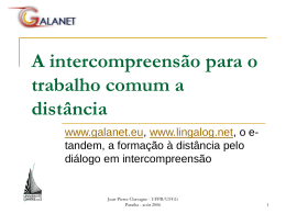 A intercompreensão p..
