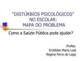 DISTURBIOS PSICOLÓGICOS NO ESCOLAR