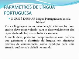 PARÂMETROS DE LÍNGUA PORTUGUESA