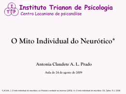 O MITO INDIVIDUAL DO NEURÓTICO