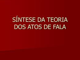SÍNTESE DA TEORIA DOS ATOS DE FALA - Over-blog