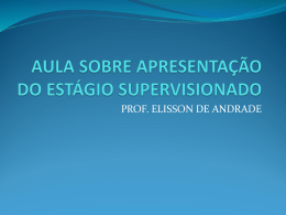 Slide 1 - Prof. Elisson de Andrade
