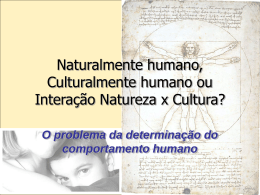O problema da determinação do comportamento humano