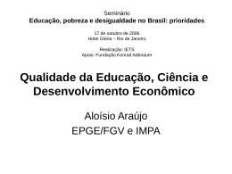 Qualidade da Educação, Ciência e Desenvolvimento Econômico