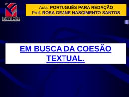 português para redação - Curso Sólon Concursos