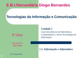 Unidade 1.1. - Informação e Informática