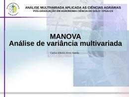 Análise de variância multivariada-MANOVA