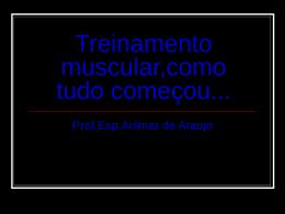Treinamento muscular.