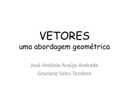 Vetores abordagem geométrica