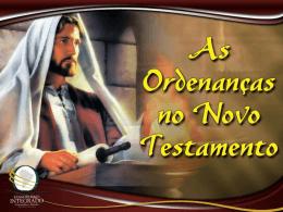 0156 ordenancas no novo testamento