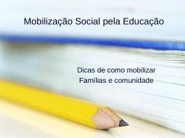 Apresentação – Dicas famílias e comunidades