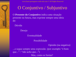 O Conjuntivo / Subjuntivo - Learn Portuguese with Rafa