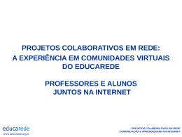 projetos colaborativos em rede