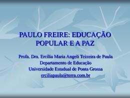 paulo freire - Universidade Estadual de Ponta Grossa
