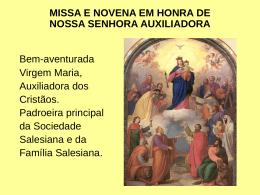 Auxiliadora - PAROQUIA SÃO CRISTÓVÃO