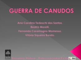 GUERRA DE CANUDOS - Colégio Porto Alvorada