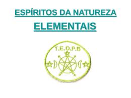 espiritos da natureza - TEOPB - Tenda Espírita Oxoce da Pedra