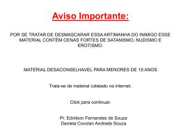 MENSAGEM SUBLIMINAR - Quadrangular Vila Industrial