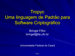 tropyc - Universidade Federal do Ceará