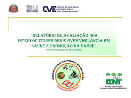 Relatório de Avaliação Interlocutores DRS e GVEs