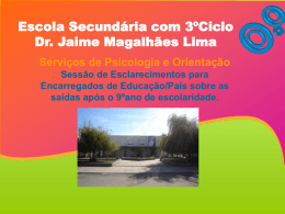 Title goes in here - Escola Secundária Dr. Jaime Magalhães Lima