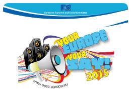 Atualização - Powerpoint sobre «A tua Europa, a tua voz!»