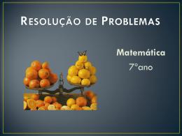 Resolução de Problemas usando equações
