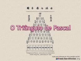 Triângulo de Pascal - Binómio de Newton -