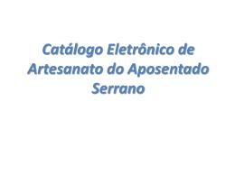 CatalogoArtesanato012009 - Instituto de Previdência dos Serv