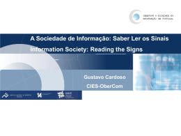 A Sociedade da Informação em Portugal: reflexão sobre o que não